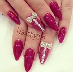Stiletto nails with some bling