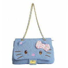 Hello Kitty Refreshing Summer Canvas Chain Bag Hello Kitty Bag, Cosmetic Bag, Fashion Bags, Shoulder Bag, Wallet, Chain, Canvas, Summer, Style