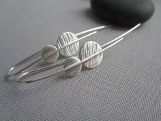 Sterling Silver Earrings/ texturized Silver Earrings/ Contemporary Earrings/ Metalsmith Earrings by mese9 on Etsy https://www.etsy.com/ca/listing/270715087/sterling-silver-earrings-texturized