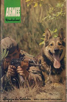 East german soldier with his dog