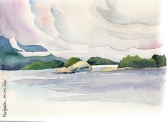 Hood Point - 'dramatic clouds and beautiful landscape from the Langdale ferry' by Sheila (Canada)