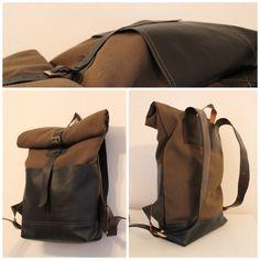 Leather backpack / rolltop от kasablanka на Etsy