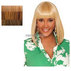 Vivica Fox Weave Cap Collection Tamara - Color GM234 - Synthetic (Curling Iron Safe) Half Wig