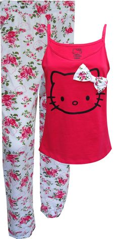 WebUndies.com Hello Kitty Pretty Petals Pajamas