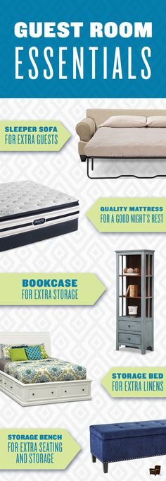 Get your guest room ready with these essentials for your home.