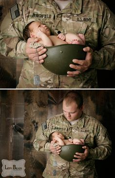 Pictures of babies always warm my heart. But pictures of military men and women with babies bring tears to my eyes. Hope y'all enjoy as much as I do!