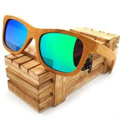 e527cf2a74b 2016 Vintage Handmade Bamboo Wooden Polarized Coating Lenses Sunglasses in  Wood Box