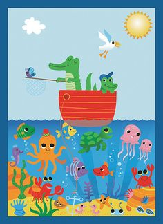 Children's sea poster