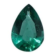 0.51 ct Pear Shape Emerald Deep Rich Green -Gold Crane & Co. - Gold Crane & Co.