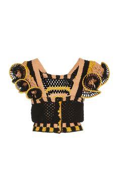 Get inspired and discover Ulla Johnson trunkshow! Shop the latest Ulla Johnson collection at Moda Operandi. Crochet Crop Top, Crochet Blouse, Diy Crochet, Crochet Bikini, Knit Fashion, Knitwear Fashion, Crochet Summer Tops, Modern Crochet, Crochet Videos