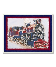 Choo choo! Future train conductors will feel truly special with this framed, vintage-inspired train print on the wall. Like all Stupell artwork, this piece comes ready to mount and is hand-finished for a high-quality look and feel.