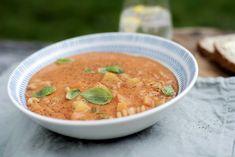 Tomat- og grønnsakssuppe med pastaskruer Ethnic Recipes, Food, Essen, Meals, Yemek, Eten