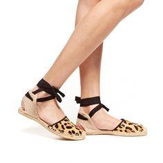 Calf Hair Sandal Leopard Espadrille | Soludos