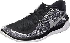new product 8944b 00ba7 Nike Mens Free Print Running Shoe Black White White D(M) US  An update on  the most cushioned Nike Free available, the Nike Free drops even more  weight, ...