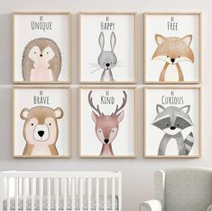 Woodland inspiration Nursery decor nursery art nursery prints nursery wall art W… Woodland inspiration Nursery decor nursery art nursery prints nursery wall art Woodland animal prints Nursery decor forest nursery Baby Room Wall Decor, Baby Decor, Nursery Wall Art, Paintings For Nursery, Painting Art, Baby Room Art, Nursery Frames, Kids Room Art, Baby Nursery Decor