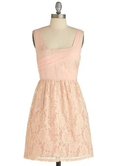 Sugared Rose Dress - Short, Sheer, Pink, Solid, Lace, Pleats, Daytime Party, A-line, Sleeveless, Spring, Exclusives