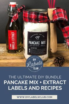 Sibyl Smith of DIY Labels Club is sharing her family's favorite dry pancake mix recipe, and she's throwing in some of the best extract labels. You'll always be prepared when you make the pancake mix ahead, all you have to do is add water, milk, and a splash of vanilla extract if you'd like! You can find the extract labels and pancake mix recipe bundle in her Etsy shop. Diy Gifts For Mothers, Mother Gifts, Summer Diy, Summer Crafts, Diy Holiday Gifts, Diy Videos, Gift Cards, Pancake, Bath And Body