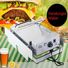 1pc Commercial Stainless Steel Oven 220V 2400W Double Layer Hamburger Heating Sandwich Machine Model 212