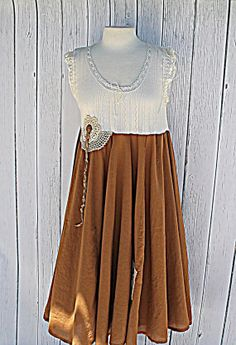 Women's Dress / Vintage Upcycled Clothes / by AmadiSloanDesigns, $65.00