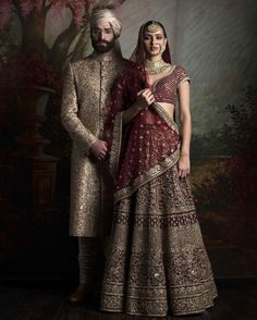 #Sabyasachi #HeritageBridal #CoordinatedBrideAndGroom #Jewellery by @kishandasjewellery #KishandasForSabyasachi #TheWorldofSabyasachi