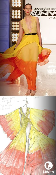 We LOVE Kini's vision in his sketches and designs! He is definitely a Project Runway All Star!