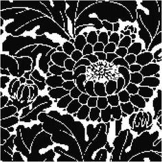 Cool Flower Silhouette Cross Stitch Pattern from https://www.etsy.com/shop/AverlyPatterns