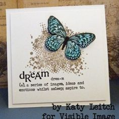 Visible Image stamps - winter butterfly card - Katy Leitch