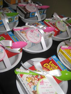 Pajama Party personalized breakfast or favors-I think we still have a few years before I may need this pin but cute idea.