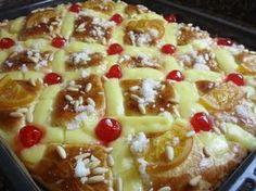 Cocina Con Nieves: COCA DE SAN JUAN DE BRIOX Spanish Desserts, Fun Desserts, Flan Cake, Chilean Recipes, Pan Dulce, Sweet Bread, Tapas, Macaroni And Cheese, Sweet Tooth