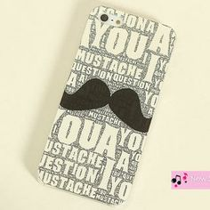 Moustache-Print iPhone 4/4s/5/5s Case from #YesStyle <3 Cuteberry YesStyle.com.au