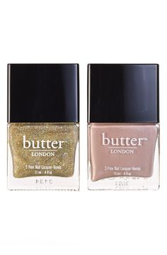 Achieve the perfect manicure with this Butter London nail polish duo.