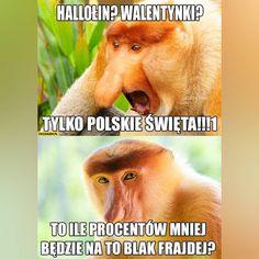 Obserwuj @nosaczepolaki.pl  Wejdź na januszex.pl i zobacz nową kolekcję koszulek, bluz i kubków z nosaczami! . . . #nosacze #nosacz… Best Memes, Funny Memes, Jokes, Polish Memes, Life Decisions, Good Mood, Cool Stuff, Funny Stuff, Haha