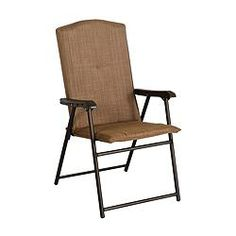 padded folding patio dining chair features a sturdy steel frame finish