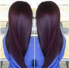Image result for brunette hair color with a little violet base