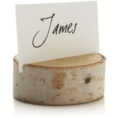 Crate & Barrel Stump Placecard Holder found on Polyvore