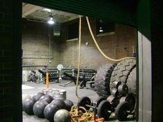 Killer strongman gym - atlas stones, farmers handles, kegs, tires, oh my!
