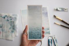 Watercolor Bookmarks, Watercolor Sea, Watercolor Landscape, Watercolor Illustration, Watercolor Flowers, Seascape Paintings, Watercolor Paintings, Indian Paintings, Watercolor Portraits