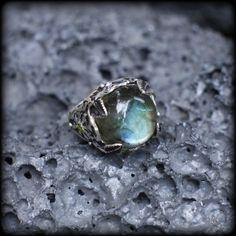 """Серебряное кольцо """"Лунный сад"""""""