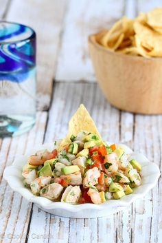 Tequila-Spiked Shrimp Ceviche Recipe with Avocado