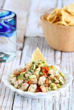 Tequila-Spiked Shrimp Ceviche Recipe with Avocado   cookincanuck.com #CincodeMayo #shrimp #avocado by CookinCanuck, via Flickr