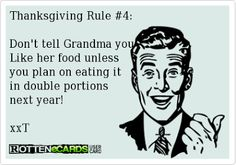 Thanksgiving Rule #4: | Cookin' Up A Party