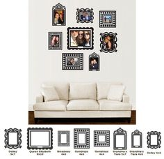 Butch and Harold Sticker Frame Kit - Wall Sticker Outlet
