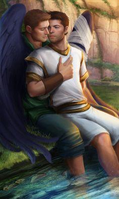 Hold On to Me, de NaSyu aka Artmetica. Dean y Castiel, de Supernatural