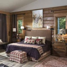 43 Popular Rustic Master Bedroom Design Ideas - The master bedroom is indeed one of the most eye-catching areas of the house and a room that every visitor wishes to look at. Rustic Furniture, Rustic Master Bedroom Design, Modern Farmhouse Master Bedroom, Rustic Living Room, Rustic Apartment, Rustic Bedroom Furniture, Rustic Bedroom, Rustic Room, Rustic House