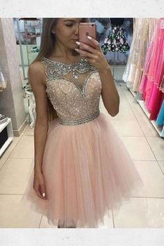 Custom Made Fetching Sequin Prom Dresses, Cute Prom Dresses, Pink Prom Dresses, Prom Dresses Short Cute Homecoming Dresses, Sequin Prom Dresses, Prom Dresses For Teens, Dresses Short, Hoco Dresses, Tulle Prom Dress, Pretty Dresses, Beautiful Dresses, Formal Dresses