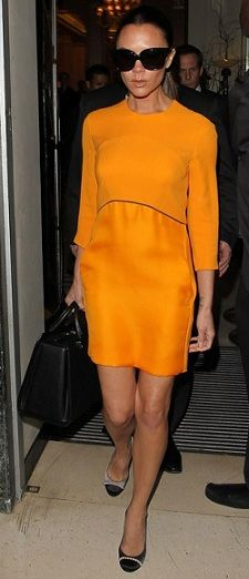 Victoria beckham dress w Chanel shoes