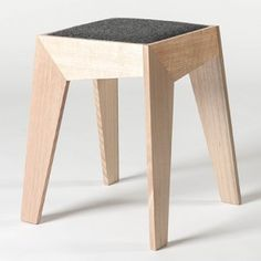 Soya Entry: RGB STOOL Handcrafted timber stool with upholstered wool seat