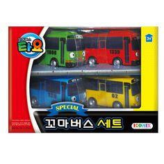 TAYO BUS 4P SET Tayo, Rogi, Gani, Rani / Cute small size kid toy #TAYOBUS