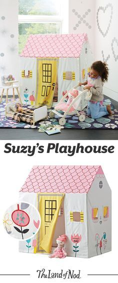Everybody needs a little place to call their own. And artist Suzy Ultman designed one just for us. This cottage playhouse is the perfect getaway for kids to play make-believe any day of the week.