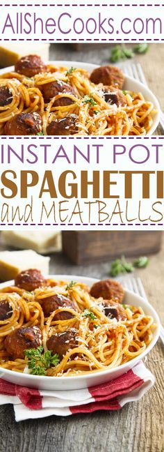 One pan pasta dishes are a great dinner choice. Instant Spot Spaghetti and Meatballs is one of our favorite healthy one pot meals.